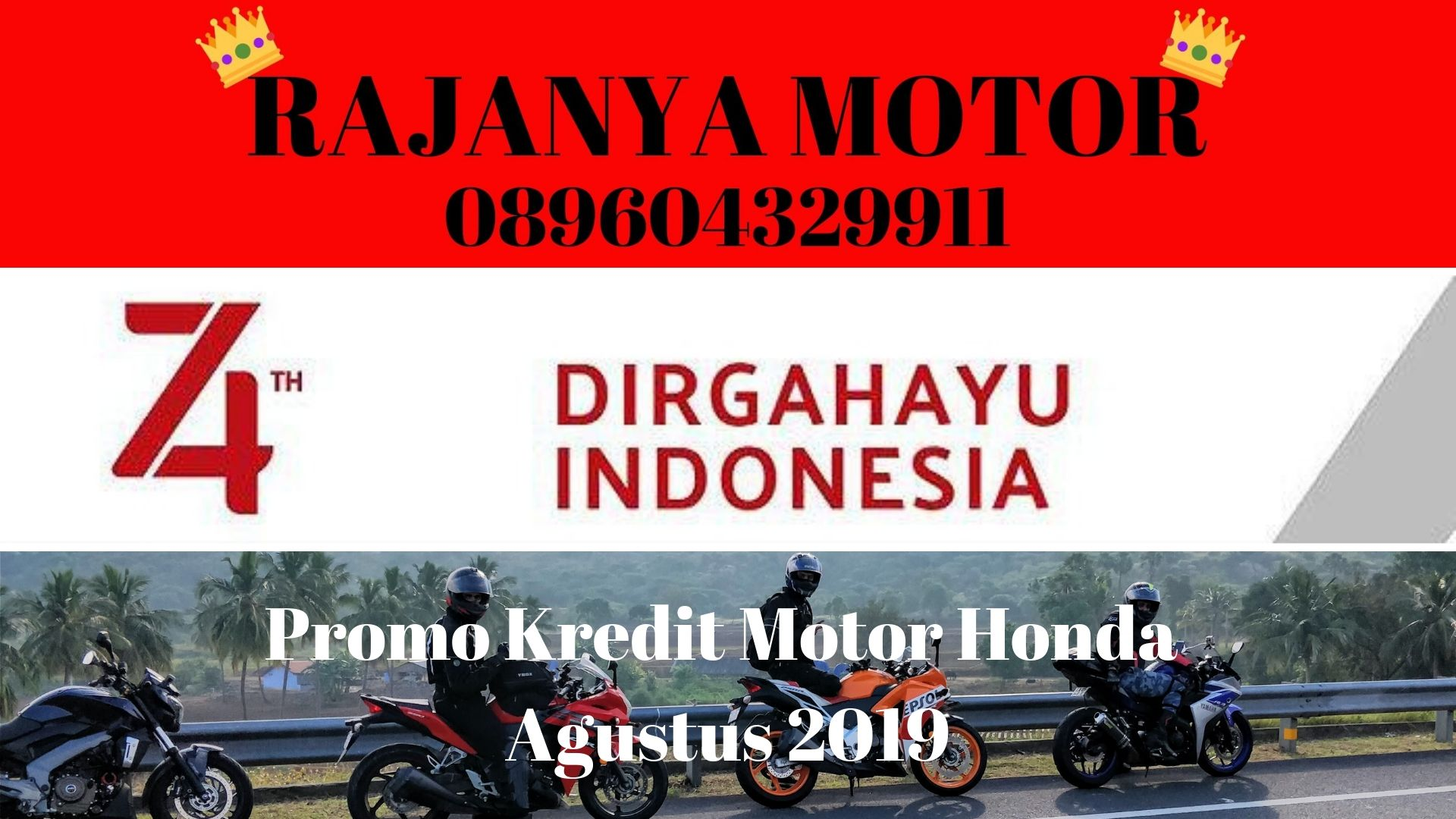 Promo Kredit Motor Honda Agustus 2019